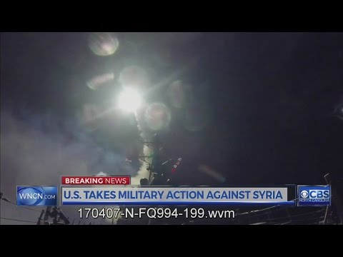 U.S. hits Syrian government airfield with missiles