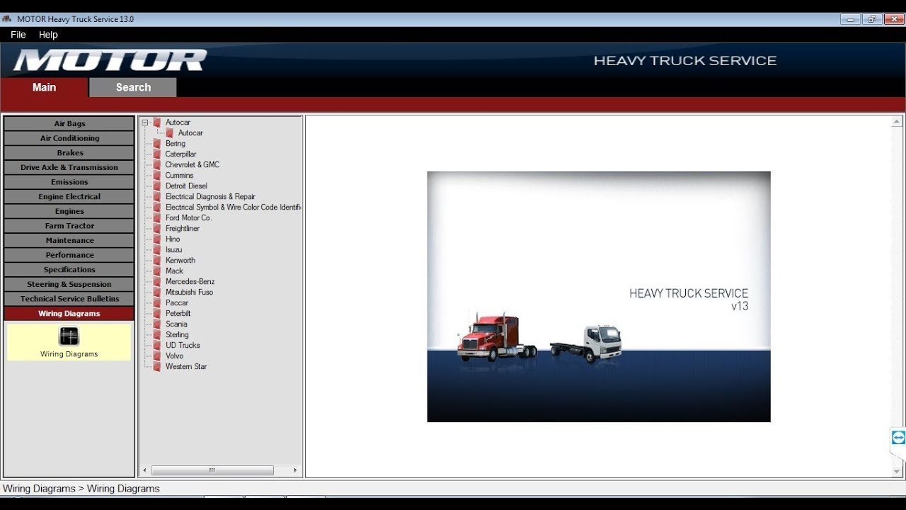 motor heavy truck service v13 2013 all heavy trucks wiring diagrams software [ 1280 x 720 Pixel ]