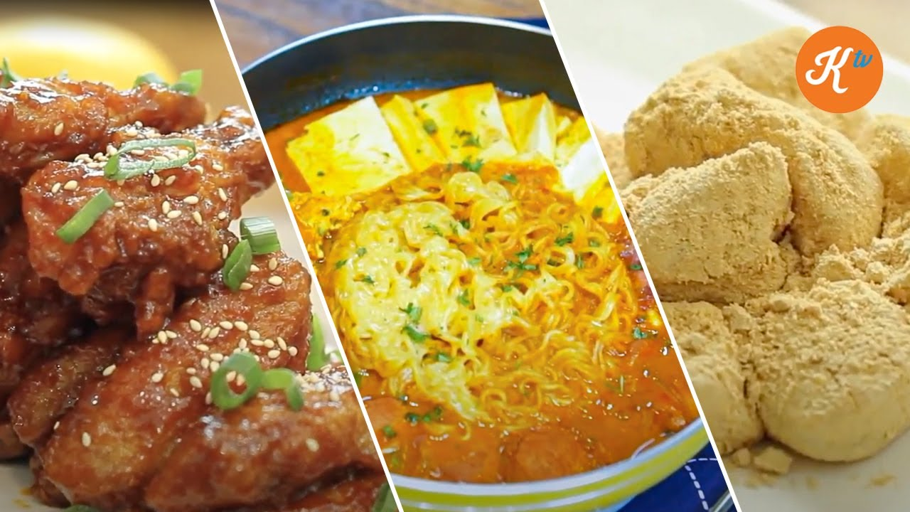 ANEKA RESEP MASAKAN KOREA ALA DRAKOR KOREAN FRIED CHICKEN, NOODLES, & MOCHI
