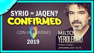 """The """"Is Syrio Forel Jaqen H'ghar?"""" Debate was answered at Con of Thrones 2019"""