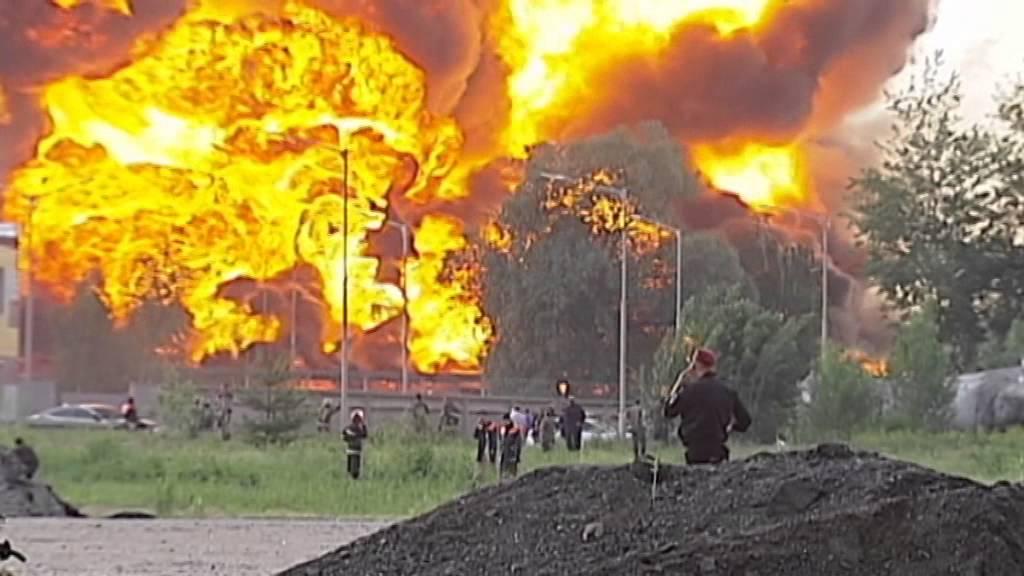 Blaze Engulfs Fuel Storage Site Military Base Under