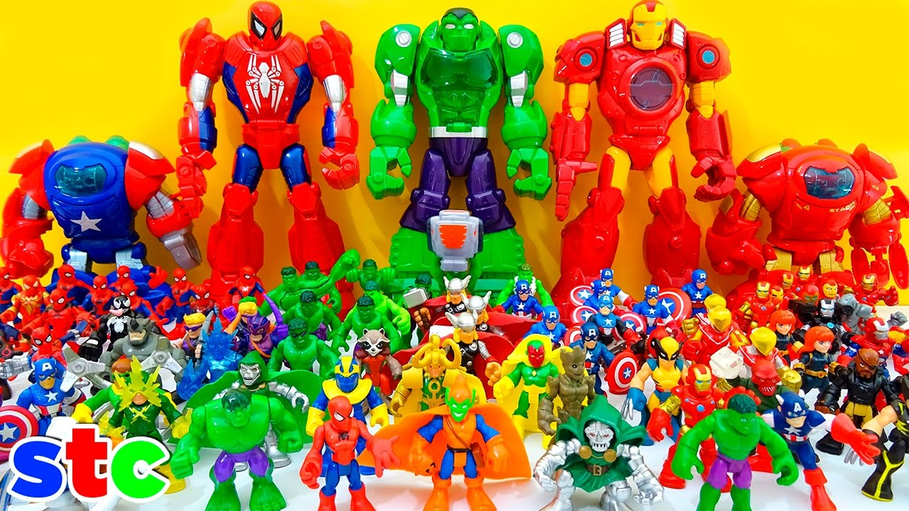 Marvel Super Heroes 60 Superhéroes: Playskool Heroes Juguetes De Coleccion Super Hero