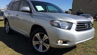 Pre Owned Silver 2008 Toyota Highlander 4WD Sport In Depth Review | Millet Alberta