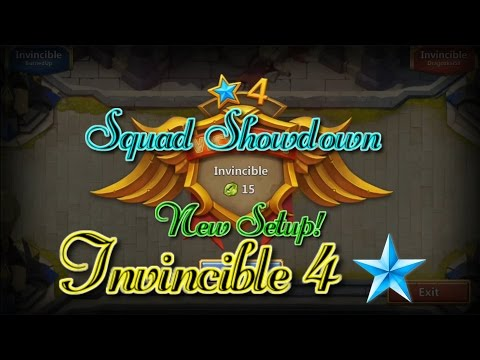 Castle Clash Squad Showdown Gameplay! Invincible 4_ Counter Heartbreaker Easy!