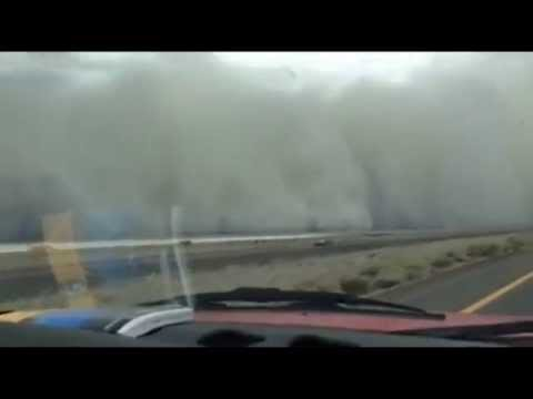 Massive dust storm between Lovelock and Fernley (Nevada)