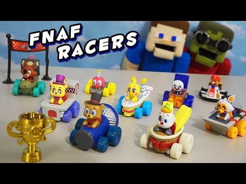 Five Nights at Freddy's Funko Racers Fnaf RACE CARS! Complete set Unboxing thumbnail