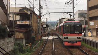 前面展望 叡山電鉄 叡山本線・鞍馬線 出町柳→鞍馬 (小雨)