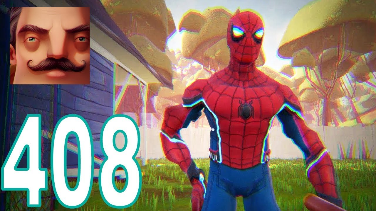 Hello Neighbor - My New Neighbor Spider-Man Homecoming Act 1 Gameplay  Walkthrough Part 408