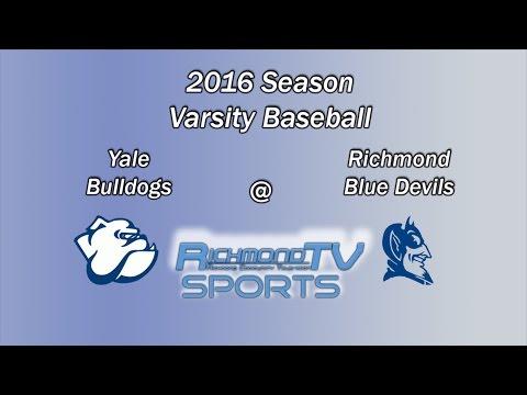 Richmond TV Sports: Varsity Baseball - Yale Bulldogs vs. Richmond Blue Devils