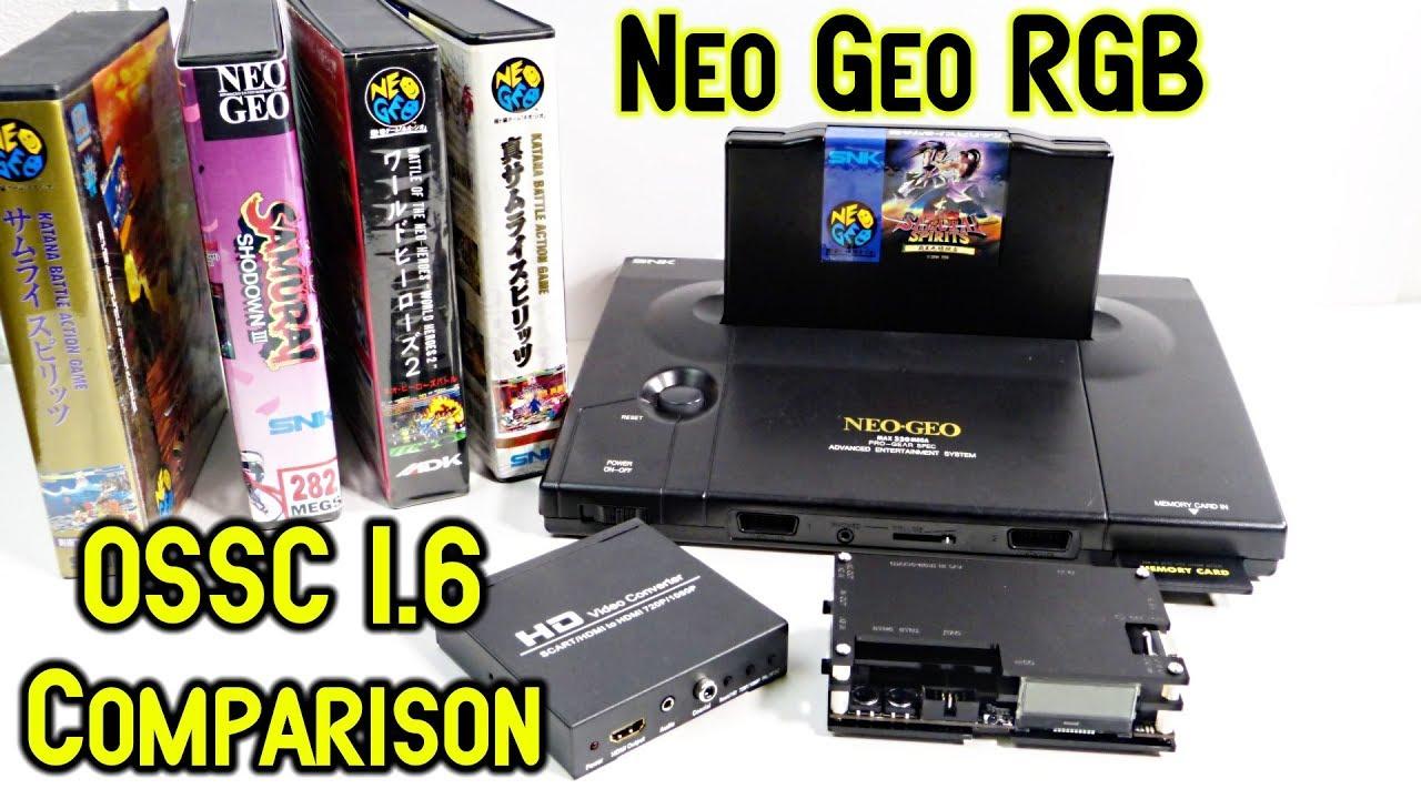 OSSC 1 6 Neo Geo AES RGB Scart Test & Comparison HDMI