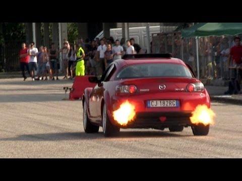 Auto Tuning Raduno 2013 - Drag Race Show: Supra, Murcielago, Kawasaki Go Kart, Skyline R34 & More