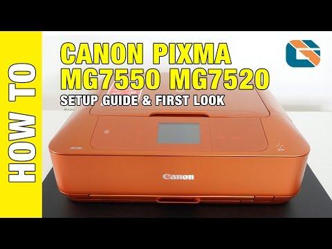 Canon Pixma MG7550 MG7520 Printer Setup Guide & First Look