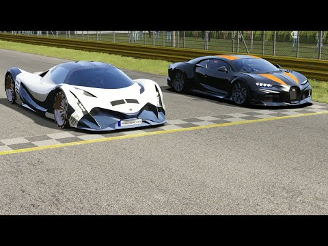 Devel Sixteen Vs Bugatti Chiron Super Sport 300+ At Monza Full Course