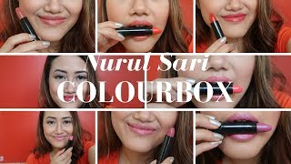 Colourbox Oriflame Lipstick Review & Swatches | Bahasa | Nurul Muthia Sari