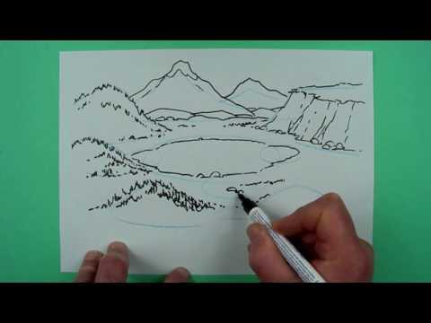 Wie zeichnet man ein Landschaft ? Zeichnen für Kinder