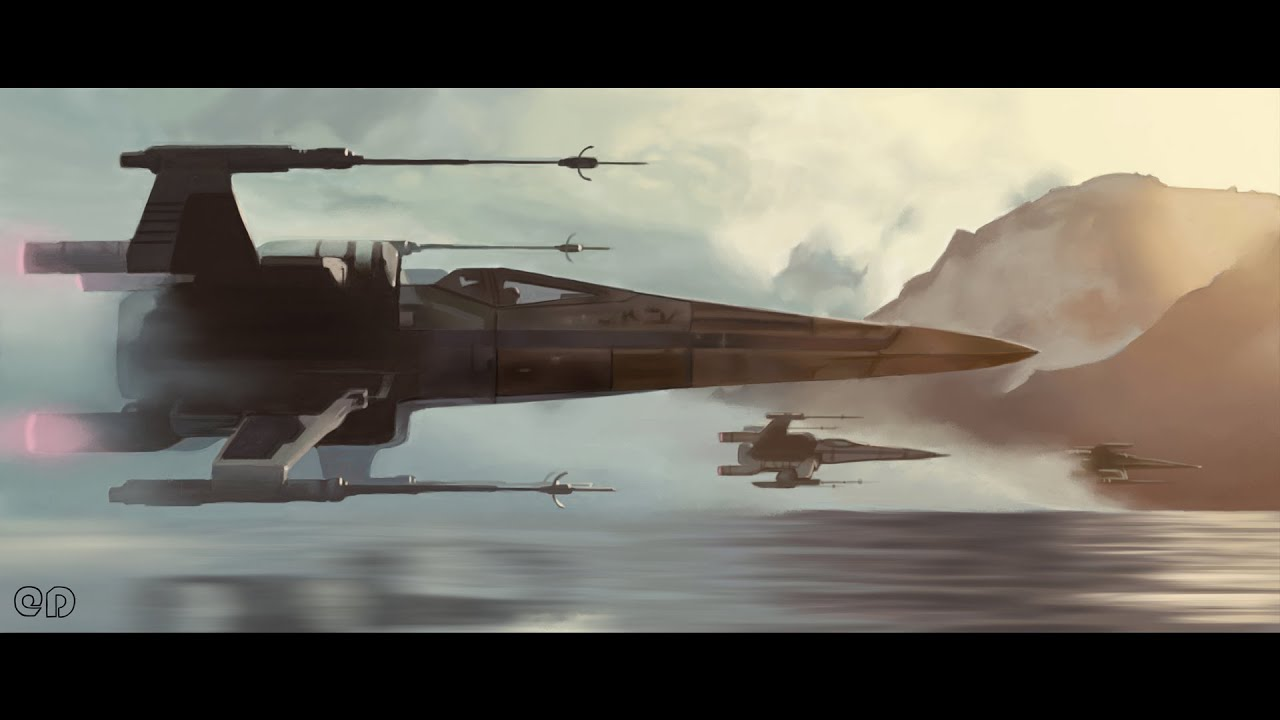 speed painting x wing starfighters from star wars the. Black Bedroom Furniture Sets. Home Design Ideas