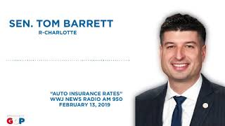 Sen. Barrett appears on WWJ New Radio to discuss auto insurance rates