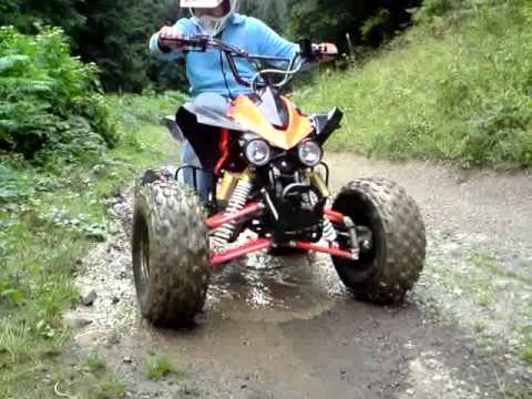 atv panthera 125cc off road small puddle youtube. Black Bedroom Furniture Sets. Home Design Ideas