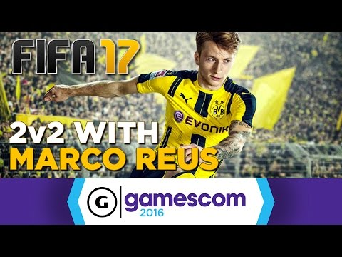 Marco Reus Plays FIFA 17 2v2 at Gamescom 2016