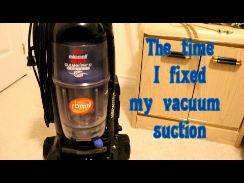 The time I fixed my Vacuum suction issues