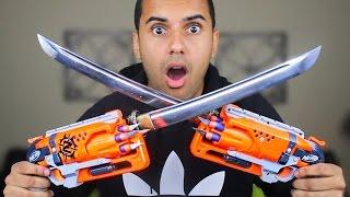 MOST DANGEROUS NERF MOD OF ALL TIME!!! (EXTREME NERF GUN KATANA MOD!!) *KATANA BAYONETS*