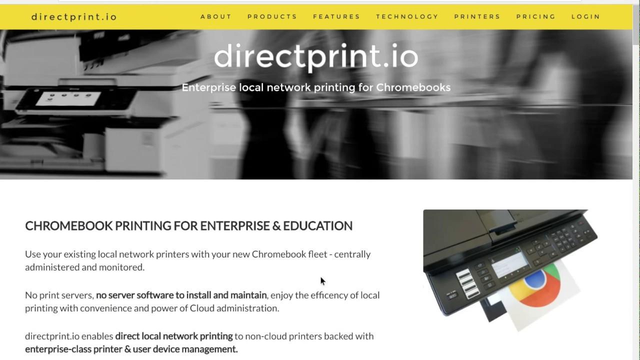 directprint io - Enterprise printing for Chromebooks