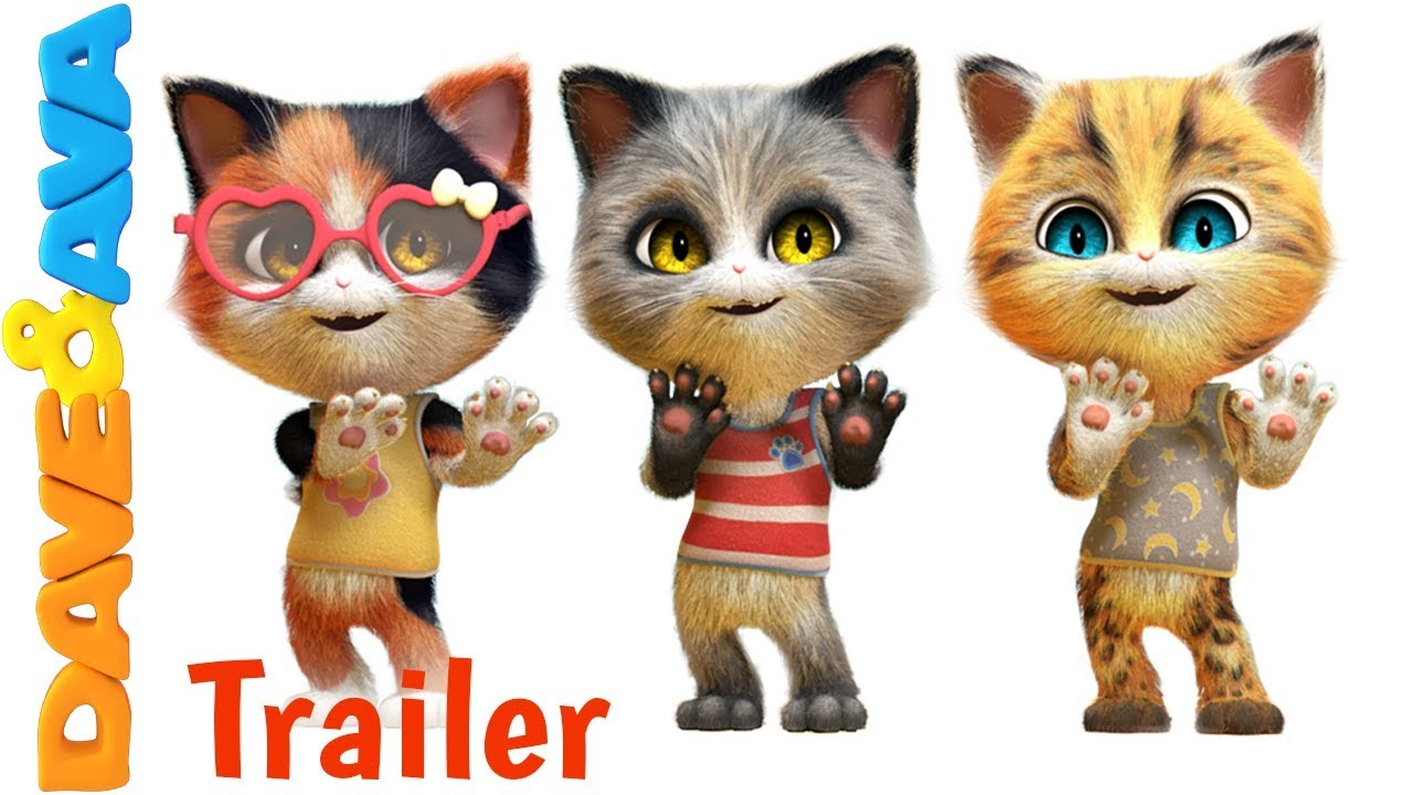 🐾 Five Little Kittens Jumping on the Bed - Trailer | Counting Songs form Dave and Ava 🐾
