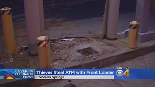 Thieves Steal ATM With Front Loader