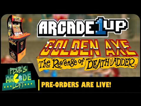 Arcade1Up Golden Axe Arcade Cabinet Pre-Orders are LIVE! from PDubs Arcade Loft