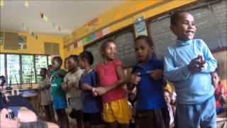 Visiting the local Fiji school