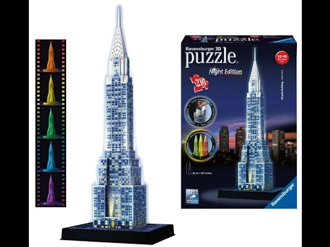 Chrysler Building 3D PUZZLE Build step by step full