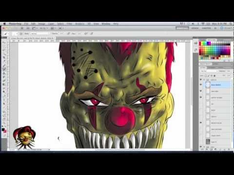 Evil Clown - Speed Painting In Photoshop Cs5