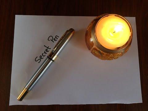 Invisible Ink Pen  (Secret Message)  - Back To School DIY