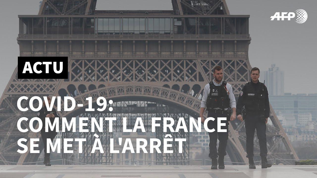 Covid-19 : comment la France se met à l'arrêt   AFP News