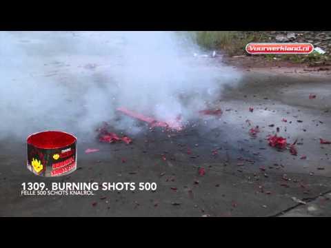 1309 Burning Shots 500 - Burning Nero - Vuurwerkland