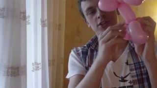Животные из шариков. Как сделать зайца из шаров. Легков.