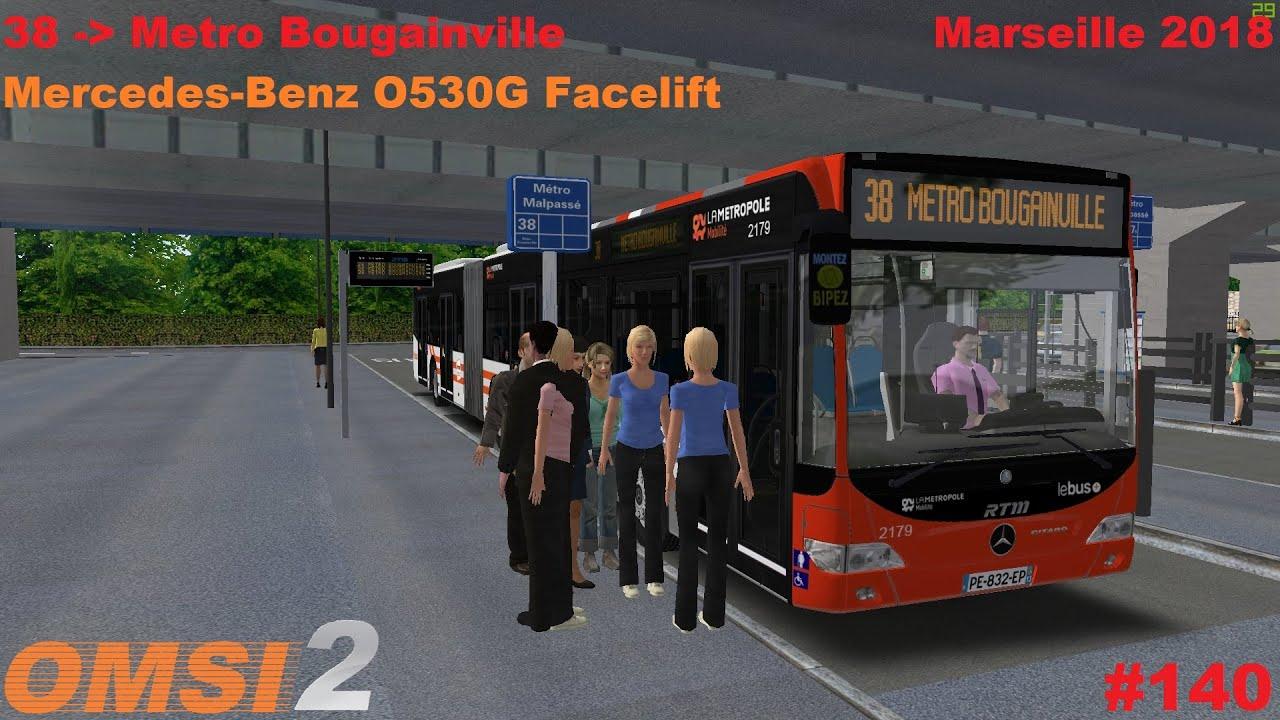 Download OMSI 2 #140: Marseille 2018   Ligne 38   MB O530G FL