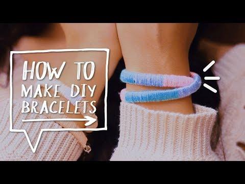DIY THREAD BRACELETS | How to Make DIY Bracelets Out of Strings Tutorial ✨Alejandra's Styles