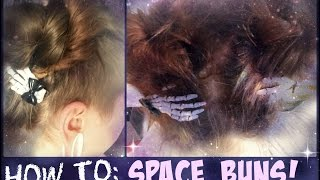 HOW TO: Space Buns With A Side Cut   TUTORIAL ● jaydellCreative