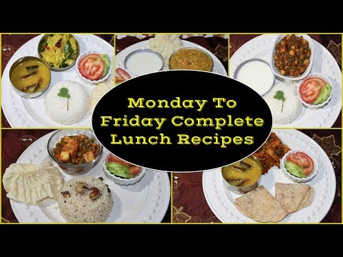 Monday To Friday Indian Lunch Menu (Recipes)  | 30 Min.Lunch Recipes | Simple Living Wise Thinking