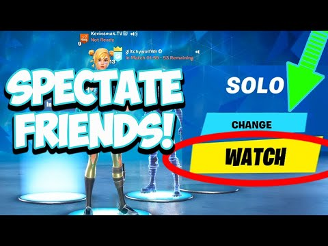 How To SPECTATE In FORTNITE From Lobby (All Platforms / Chapter 2)