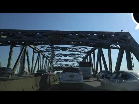 Driving on the BQE Expressway from Woodside Queens to Downtown Brooklyn,New York