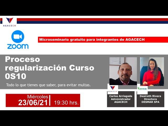 Regularización curso Os10 para trabajadores en comunidades AGACECH