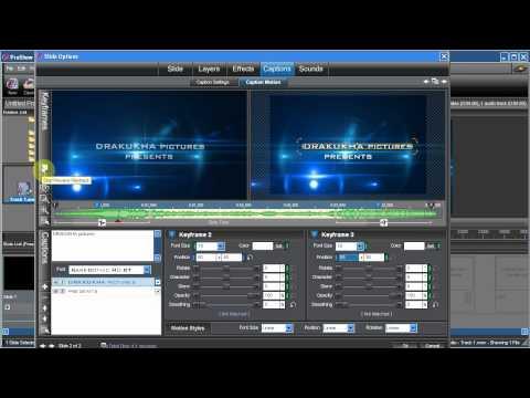 Hướng dẫn làm text intro bằng Proshow producer
