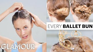 Every Ballet Hairstyle With Pro Ballerina Scout Forsythe | On Pointe | Glamour