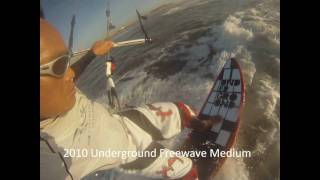Genetrix Kiteboarding - Origin 11m  and Underground Freewave/STYX/Wavetray riding - GoPRO HD