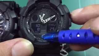 5ข้อเปรียบเทียบเเท้ปลอมCasio G-Shock Ga-100 Series