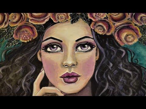 """❤ Canvas Acrylic Painting -""""Springtime sadness"""""""