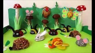 Поделки с детьми из скорлупы грецкого ореха