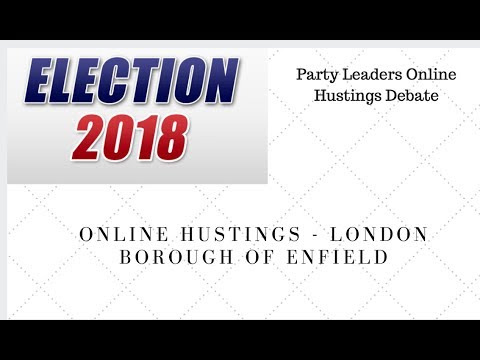 London Elections 2018 - Interview Party Leaders in Enfield